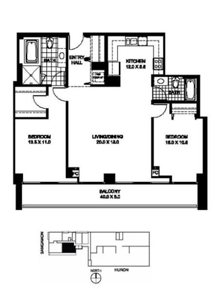 B3 - 2 Bed