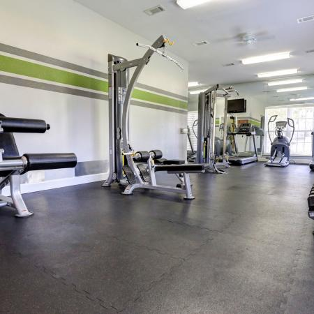 Gym with updated equipment