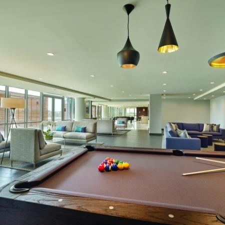 Billiards with pendant lighting