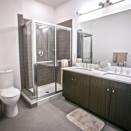 Spacious Master Bathrooms with Dual Vanities in Select Homes