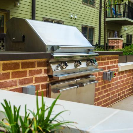 Grills in Courtyard