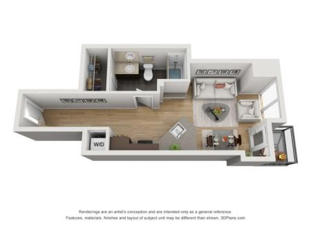 Studio Floor Plan stj