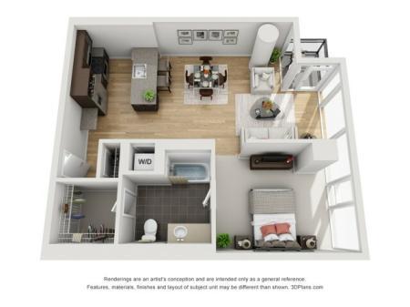 One Bedroom - 1k