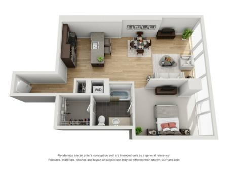 One Bedroom - 1u