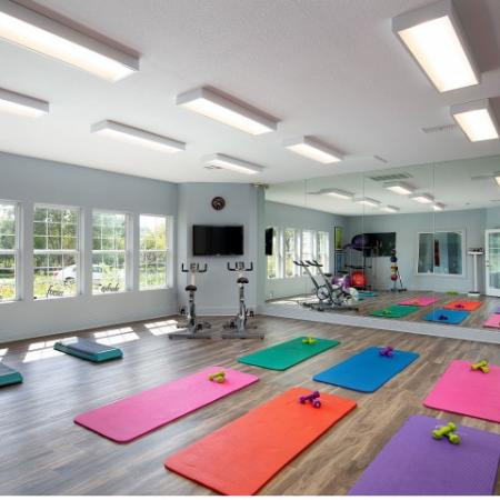 Yoga and fitness studio