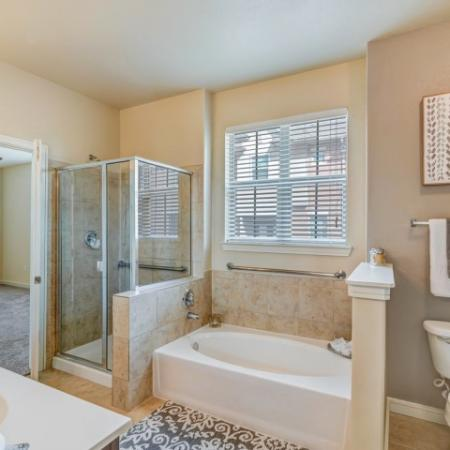extra Storage, Garden Soaking Tubs, Stand alone showers.