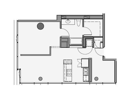 1 Bed 1 Bath + Den Floor Plan 1ad
