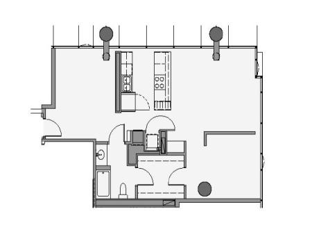 One Bedroom and Den - 1fd