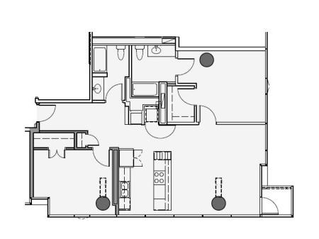 2 Bed 2 Bath Floor Plan 2f