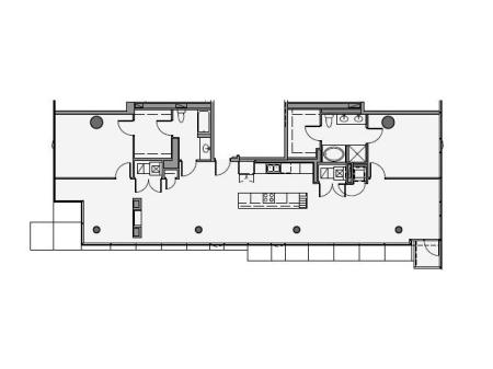 2 Bed 2 Bath Floor Plan 2p2