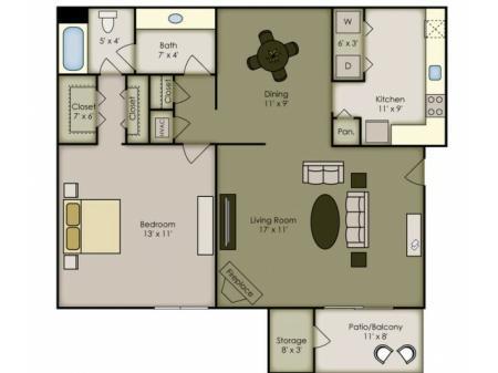 1 Bedroom Renovated