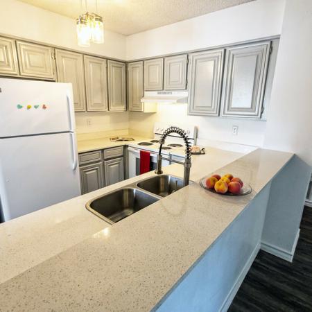 Hardwood Style Flooring in kitchen & living room