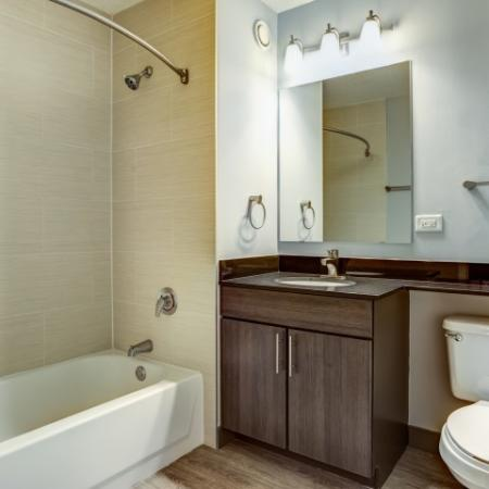 Upgraded bathrooms in west loop | 180 North Jefferson Apartments