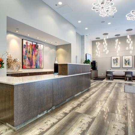24-hour concierge in west loop | 180 North Jefferson Apartments