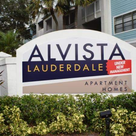 Alvista Lauderdale monument sign as you enter the community.