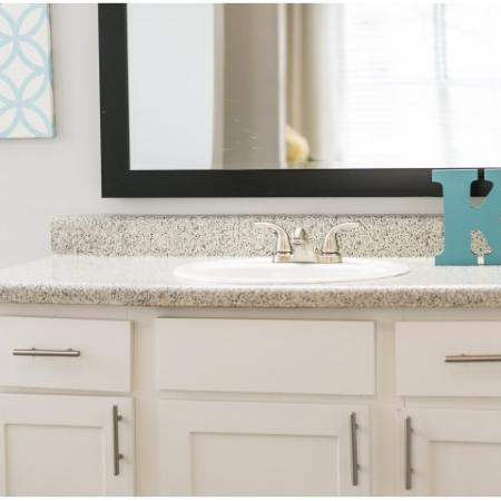 Bathroom Shaker Style Cabinets with Framed Mirror