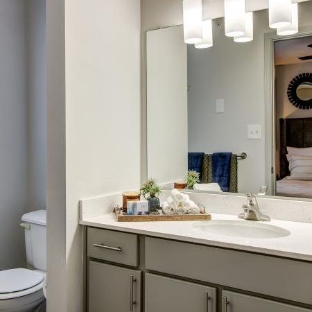 spacious private bathroom connected to bedroom