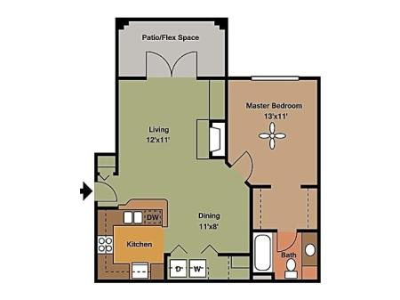 Remington at Lone Tree A1A2 Floorplan
