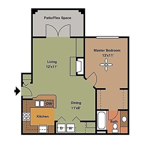 Remington at Lone Tree A1A2 Floorplan