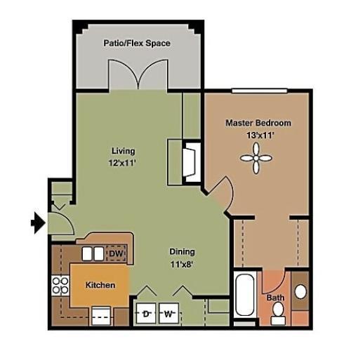 Remington at Lone Tree A2 Floorplan