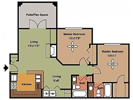 Remington at Lone Tree B2 Floorplan