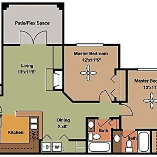 Remington at Lone Tree B2 Floorplan