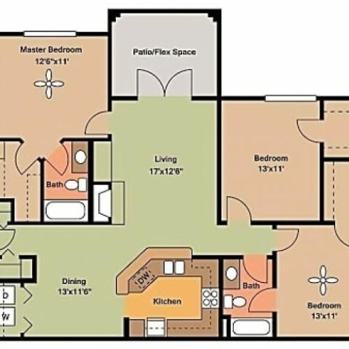 Remington at Lone Tree C2 Floorplan