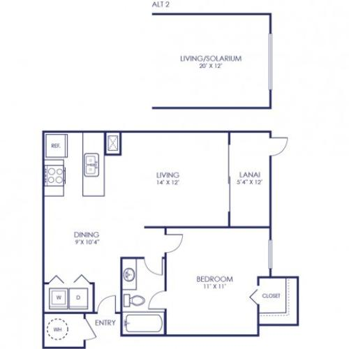 Heron 642 Square Feet One Bedroom | One Bathroom