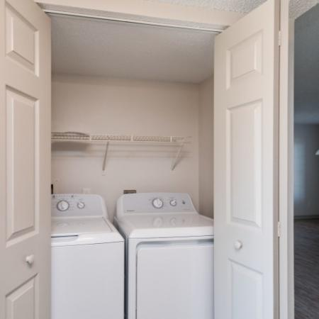 Alvista Golden Gate laundry closet with full size washer and dryer