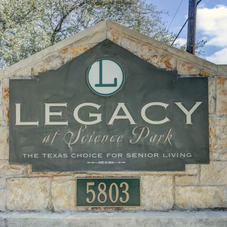 Legacy at Science Park monument sign at community entrance
