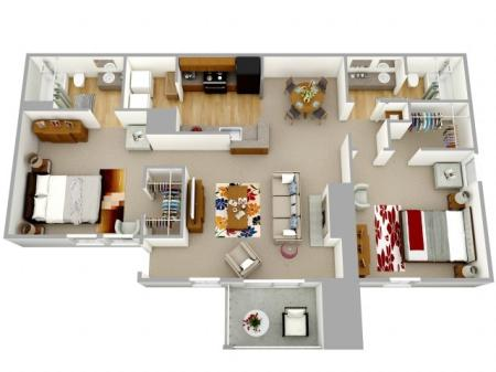 Large 2 Bedroom Apartment Decatur