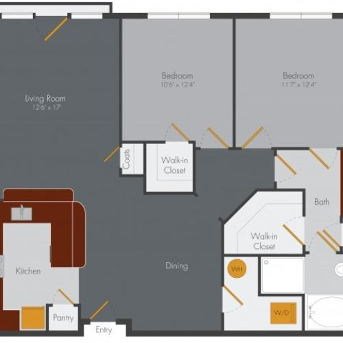 Two Bedroom One Bath Edgewood