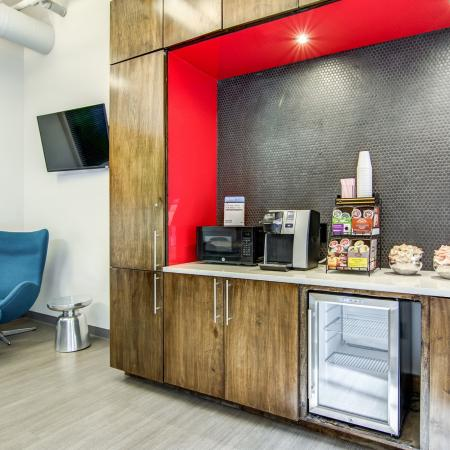 Coffee bar in the resident lounge