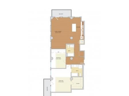 2 Bed 2 Bath Floor Plan B11