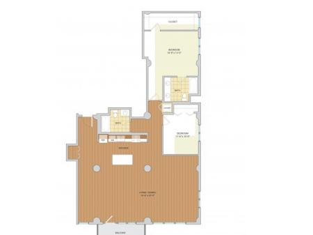 2 Bed 2 Bath Floor Plan B12