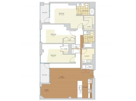 3 Bed 2 Bath Floor Plan C2