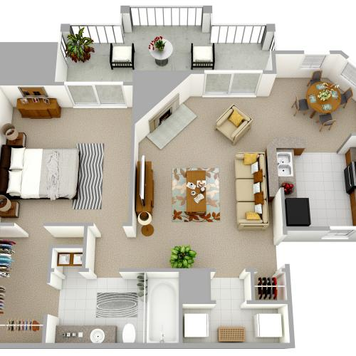A1 - One Bedroom, One Bathroom