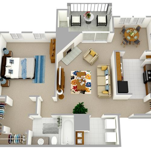 A2 - One Bedroom, One Bathroom