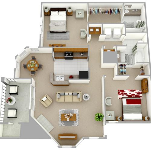B2 - Two Bedroom, Two Bathroom