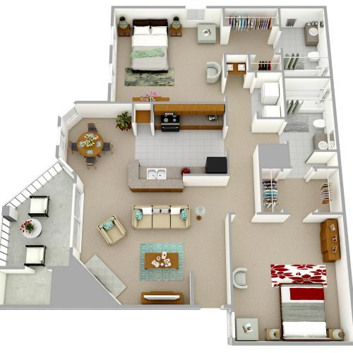 B5 - Two Bedroom, Two Bathroom