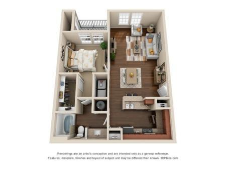 One Bedroom One Bath Apartment Duluth GA