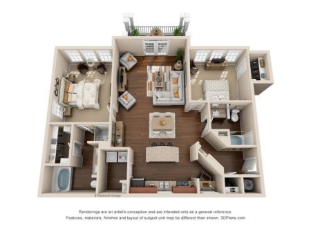 Two Bedroom Two Bath Apartment Duluth GA