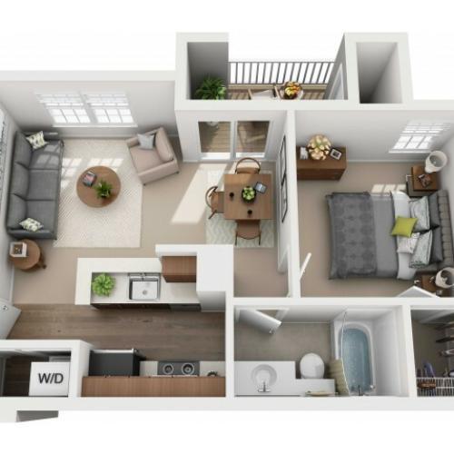 One Bedroom One Bathroom - 535 sq ft