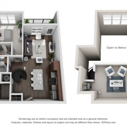 Imperial 957 Square Feet One Bedroom | One Bathroom