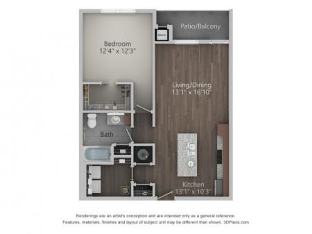Dominion 822 Square Feet One Bedroom | One Bathroom