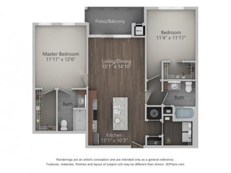 Mariner 1031 Square Feet Two Bedroom | Two Bathroom