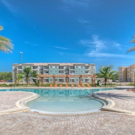 San Mateo Apartments Kissimmee Florida pool deck
