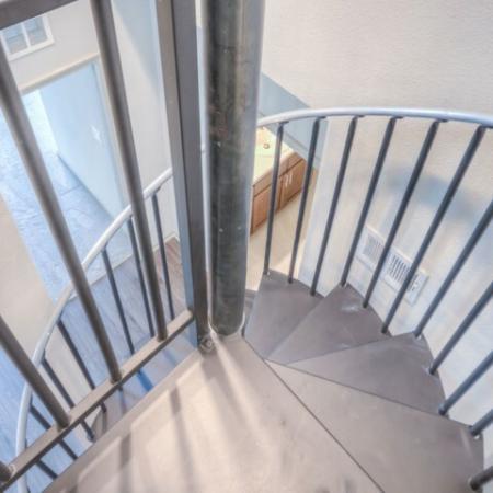 San Mateo Apartments Kissimmee Florida spiral metal staircase