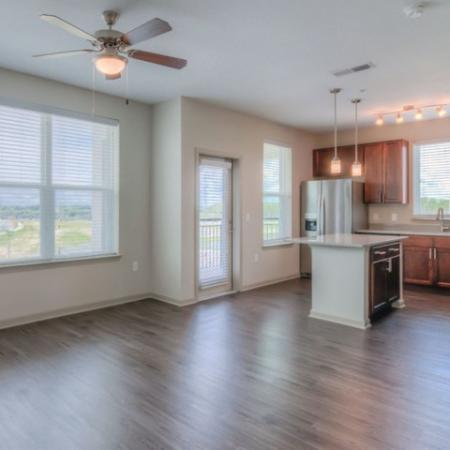 San Mateo Apartments Kissimmee Florida open floorplan living room and kitchen
