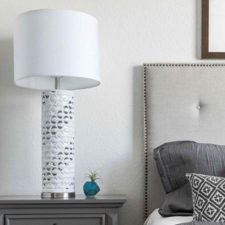 Model Bedside table and lamp
